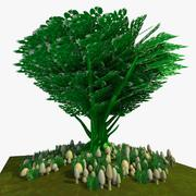 Cartoon Tree 2 3d model
