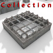 Sewer metal cover Textured 3d model