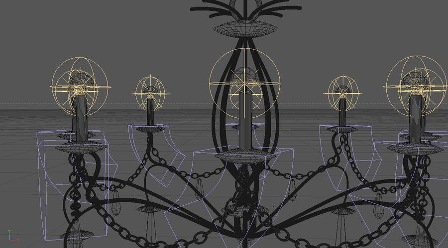 żyrandol royalty-free 3d model - Preview no. 4