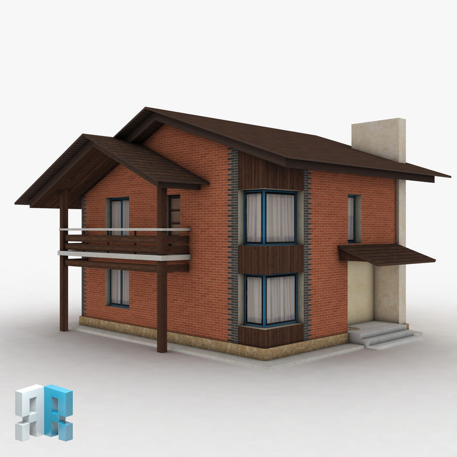 Gebouw 022 royalty-free 3d model - Preview no. 3