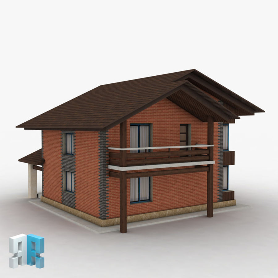 Gebouw 022 royalty-free 3d model - Preview no. 2