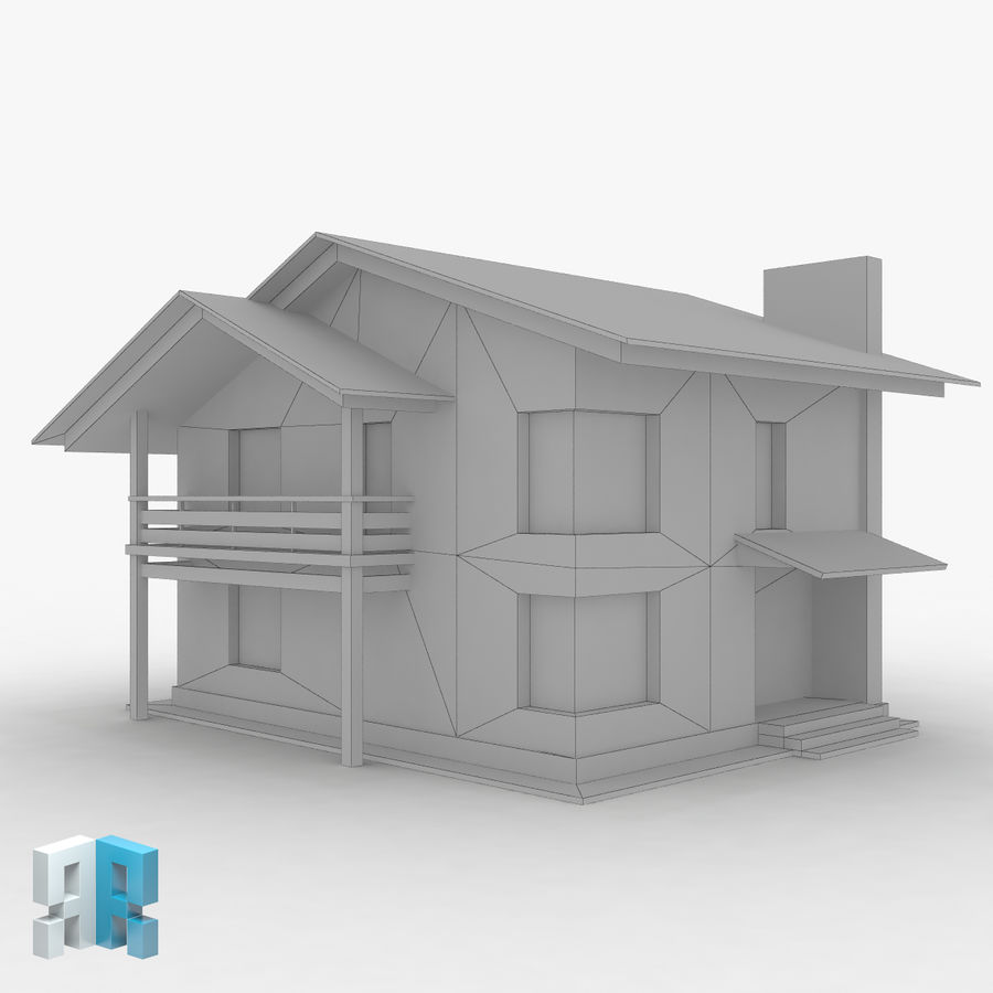 Gebouw 022 royalty-free 3d model - Preview no. 4