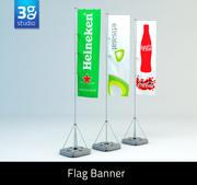 Banner bandiera evento 3d model