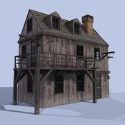 Casa de madera modelo 3d