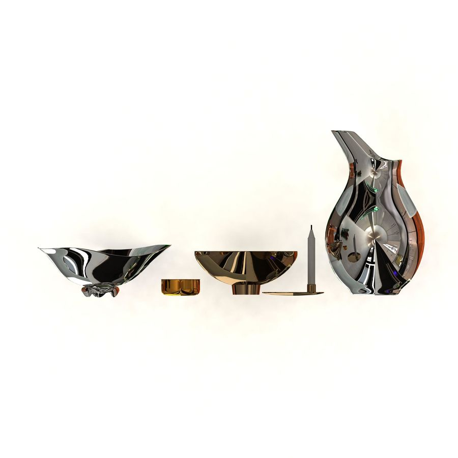 Pakiet dekoracyjny Georg Jensen royalty-free 3d model - Preview no. 3