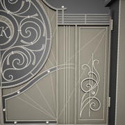 Wrought Iron Gate 8 3d model