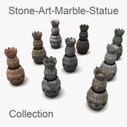 Weird Statuetextured historic museum 3d model