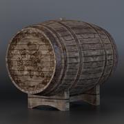 Vieux tonneau de vin 3d model
