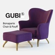 GUBI Bonaparte Stol och pouf 3d model