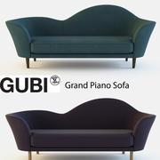 GUBIグランドピアノソファ 3d model