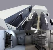 Cold Storage Warehouse 3d model