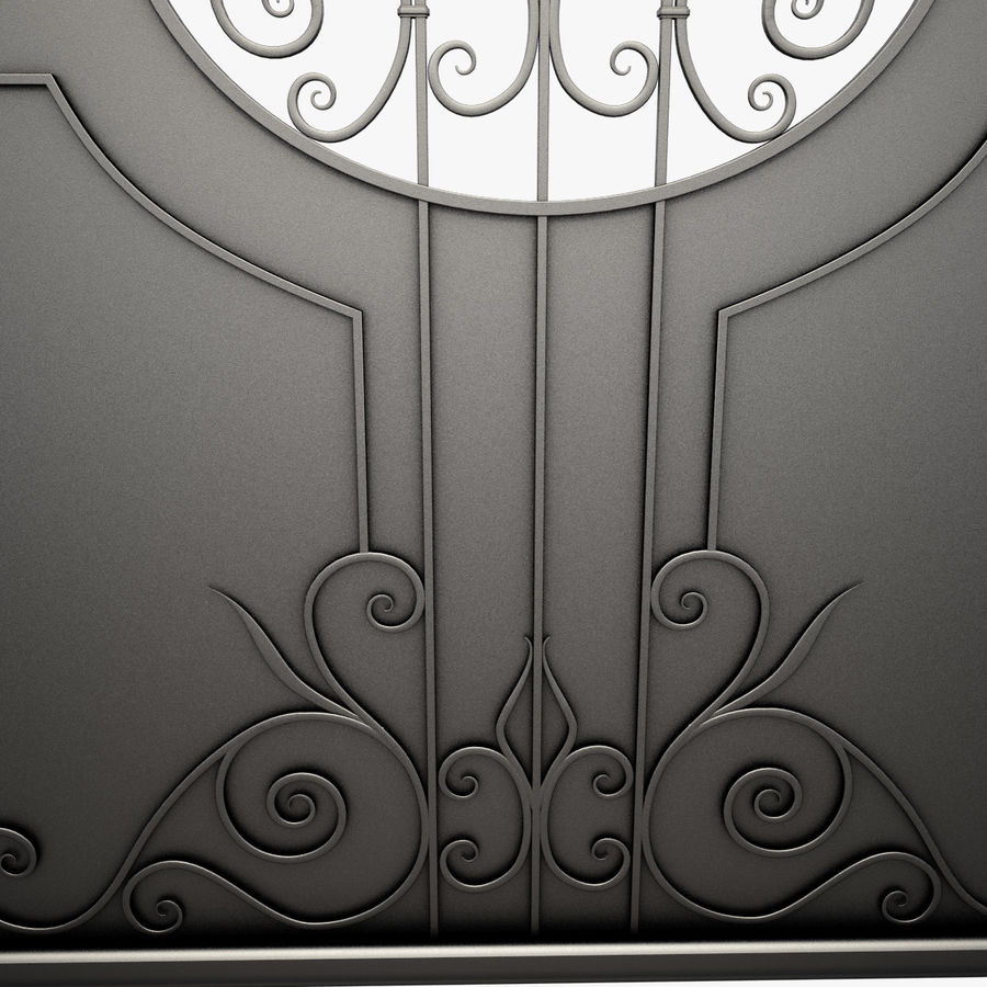 Wrought Iron Driveway Gate royalty-free 3d model - Preview no. 11