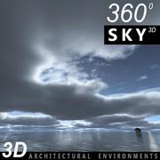 Sky 3D Clouded 011 3d model