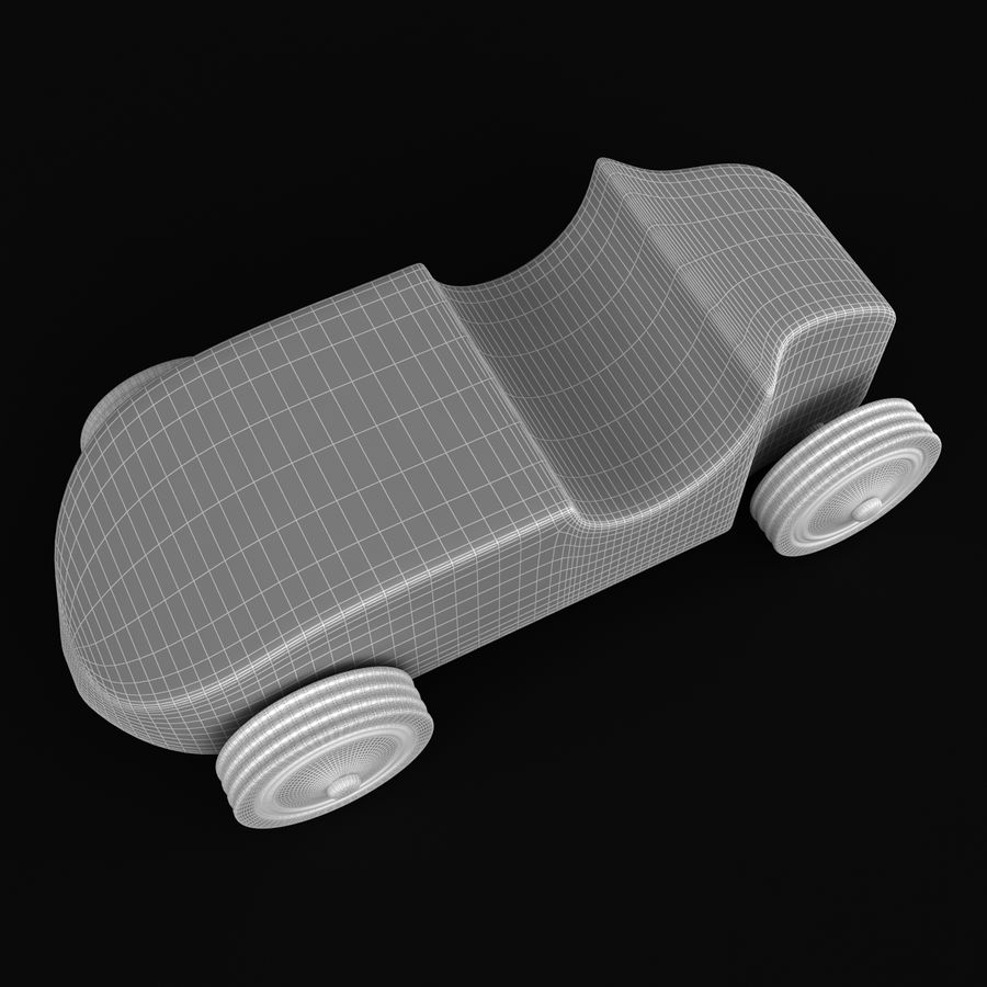 Speed Racer Car Toy royalty-free 3d model - Preview no. 6