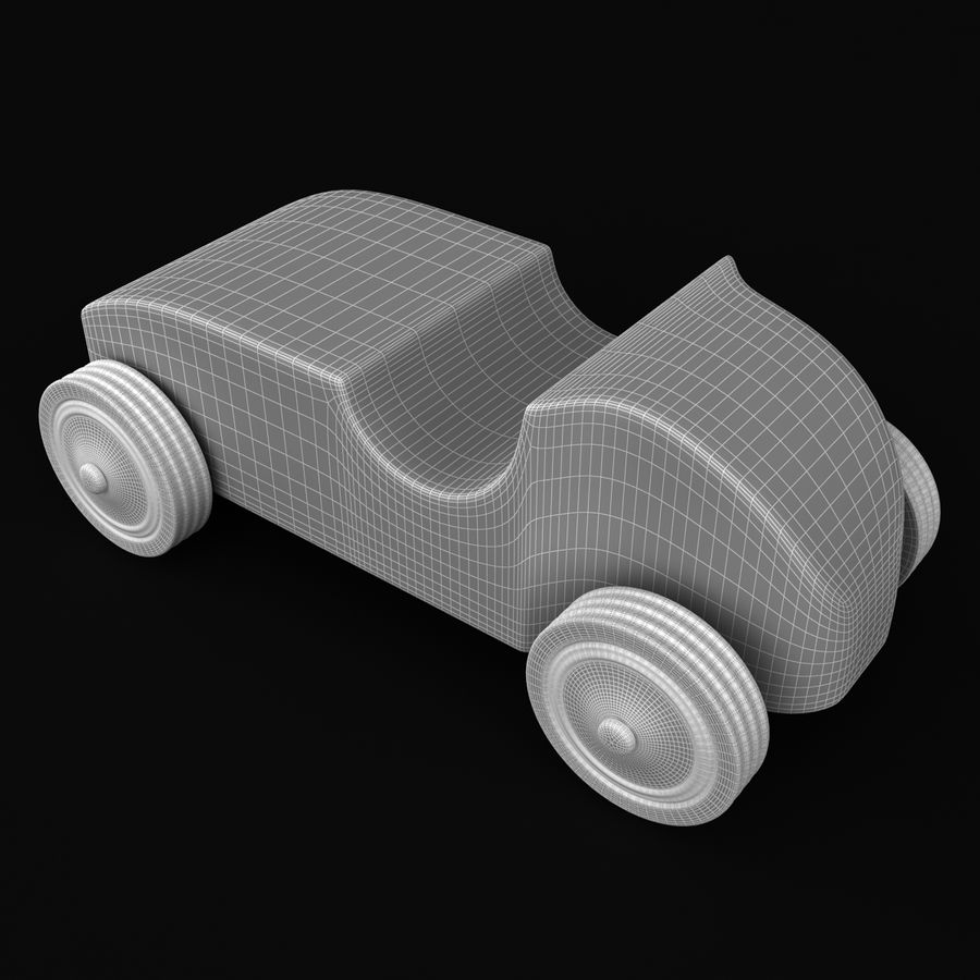 Speed Racer Car Toy royalty-free 3d model - Preview no. 7