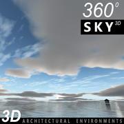 Gökyüzü 3D Bulutlu 015 3d model