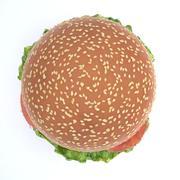 햄버거 3d model