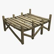 Plate-forme en bois 3d model