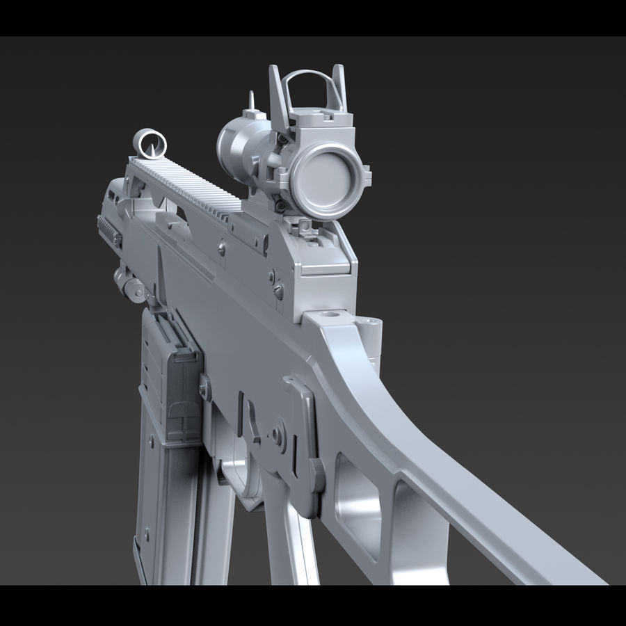 Assault rifle royalty-free 3d model - Preview no. 15
