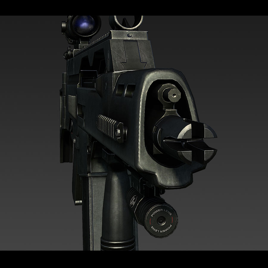 Assault rifle royalty-free 3d model - Preview no. 5