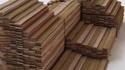 Ułożone deski drewniane 3d model