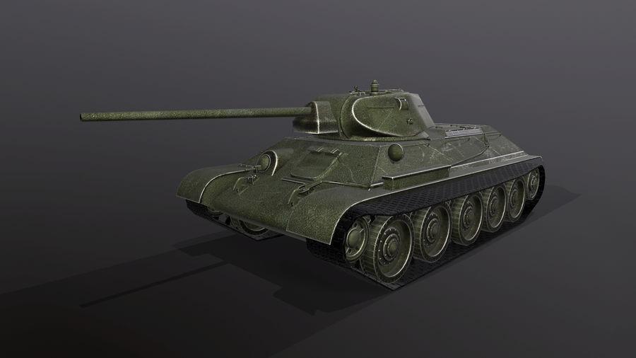 タンク、T34低ポリ royalty-free 3d model - Preview no. 1