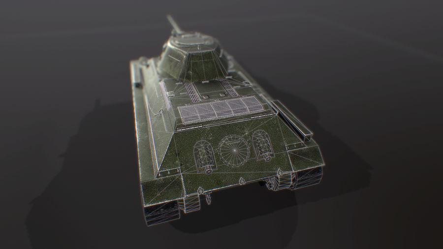タンク、T34低ポリ royalty-free 3d model - Preview no. 3