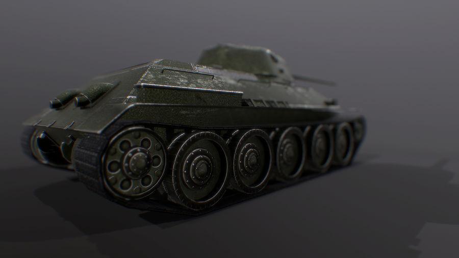 タンク、T34低ポリ royalty-free 3d model - Preview no. 7