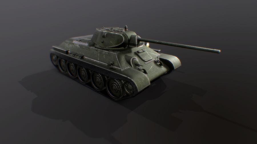 タンク、T34低ポリ royalty-free 3d model - Preview no. 5