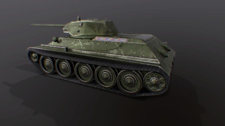 タンク、T34低ポリ royalty-free 3d model - Preview no. 8