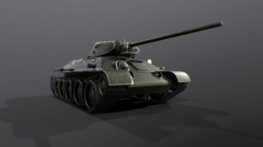 タンク、T34低ポリ royalty-free 3d model - Preview no. 6