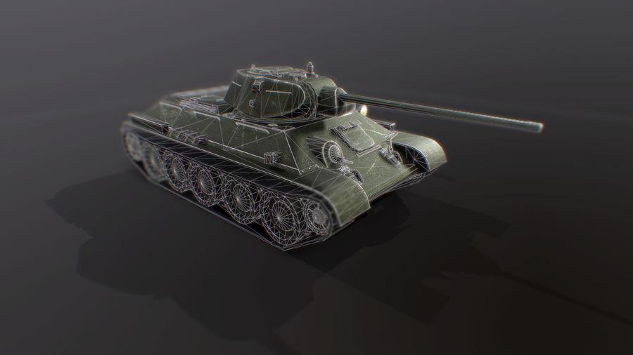 タンク、T34低ポリ royalty-free 3d model - Preview no. 4