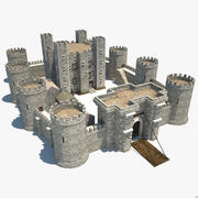 中世纪城堡 3d model