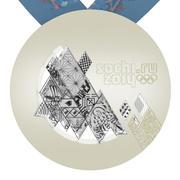 Medalha nos Jogos Olímpicos de Inverno de Sochi 3d model