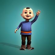 Mongolian boy 3d model