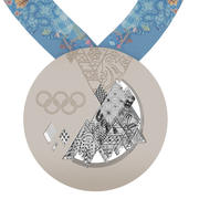 Sochi Olimpic Winter Games medal 3d model