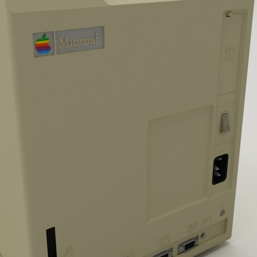 Macintosh royalty-free 3d model - Preview no. 5