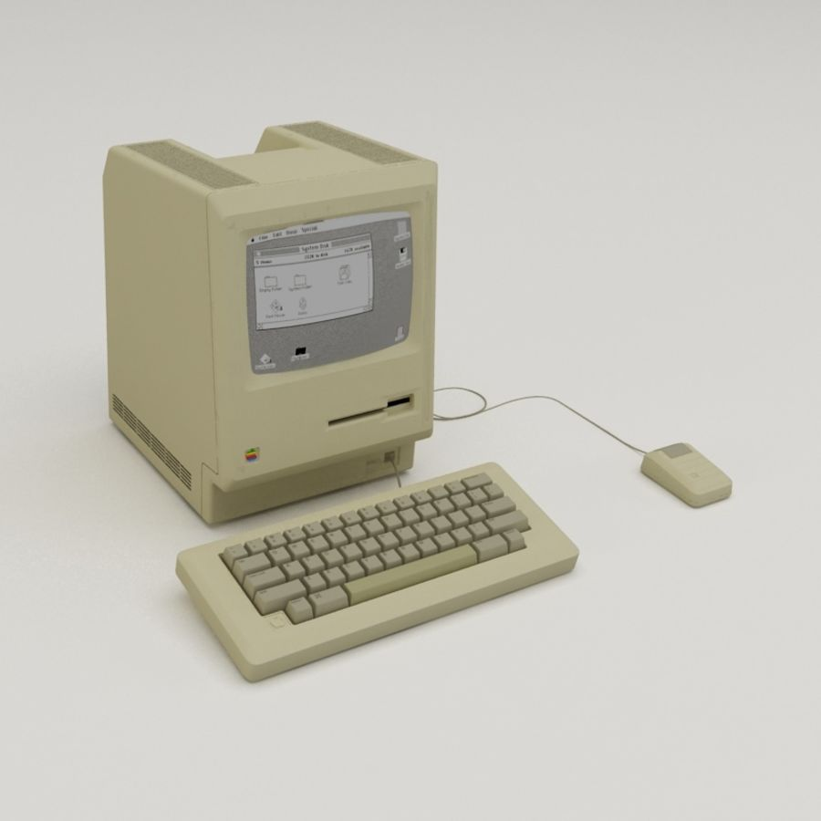 Macintosh royalty-free 3d model - Preview no. 1