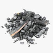 Toras e cinzas queimadas 3d model