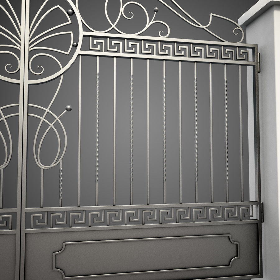 Wrought Iron Gate 6 royalty-free 3d model - Preview no. 5
