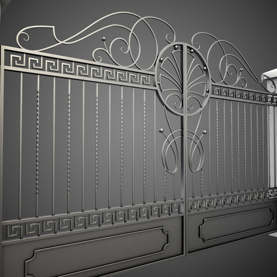 Wrought Iron Gate 6 royalty-free 3d model - Preview no. 3