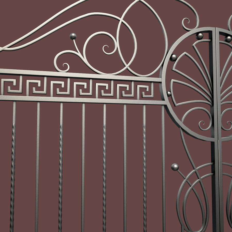 Wrought Iron Gate 6 royalty-free 3d model - Preview no. 6