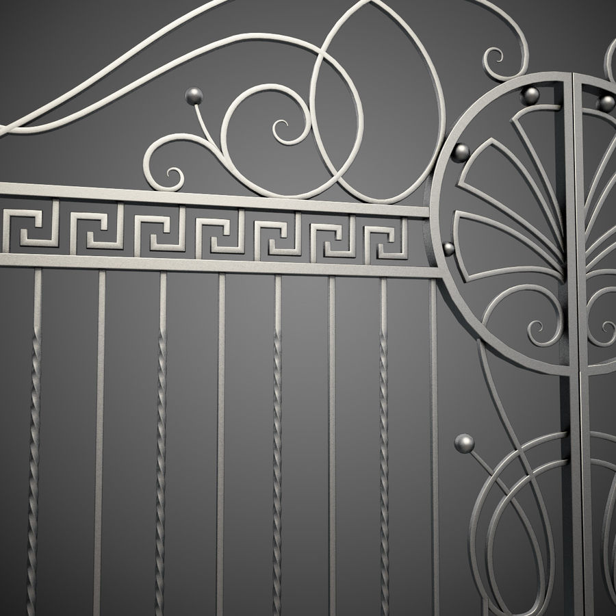 Wrought Iron Gate 6 royalty-free 3d model - Preview no. 4