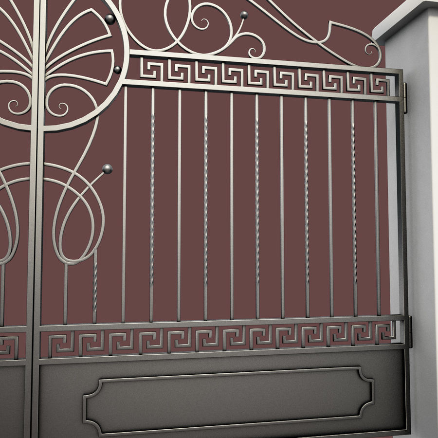 Wrought Iron Gate 6 royalty-free 3d model - Preview no. 7