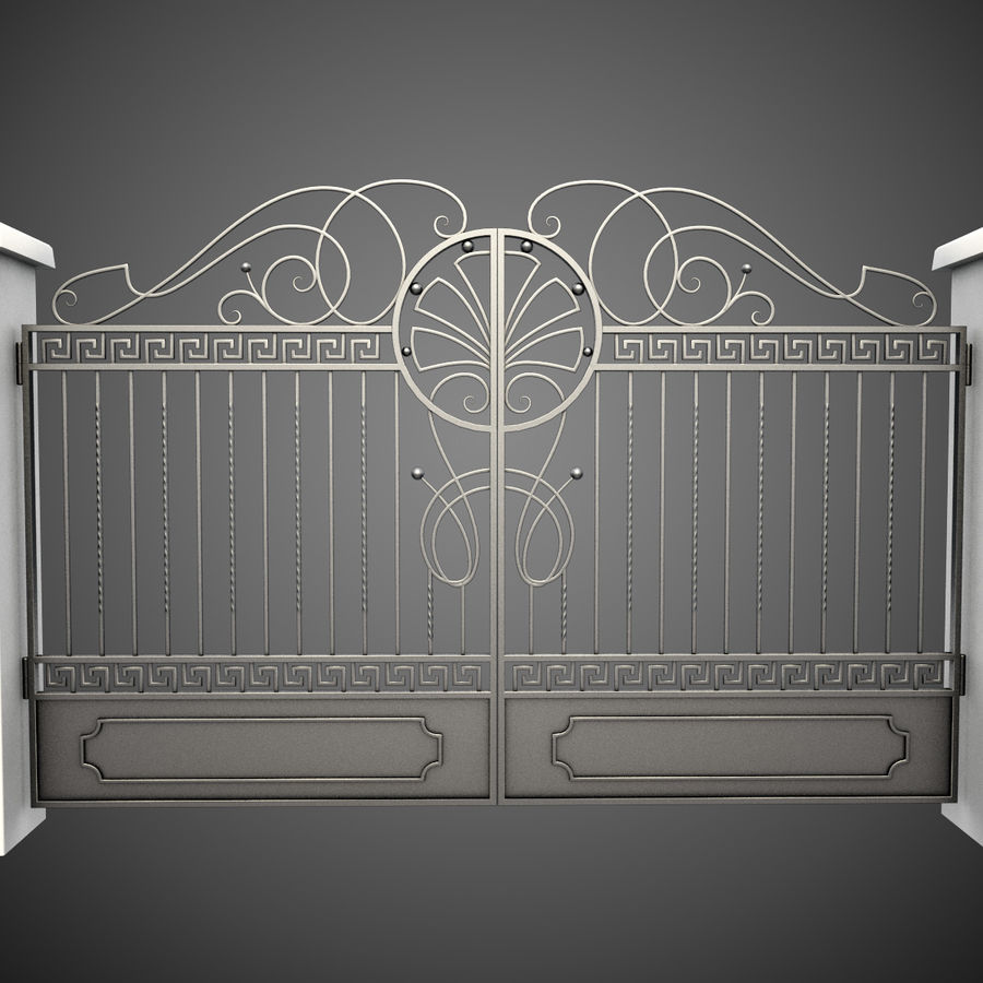 Wrought Iron Gate 6 royalty-free 3d model - Preview no. 1
