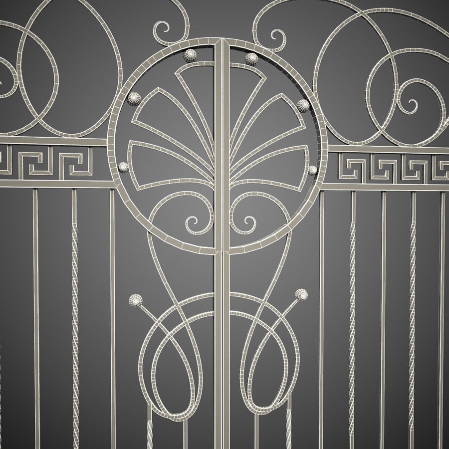 Wrought Iron Gate 6 royalty-free 3d model - Preview no. 15