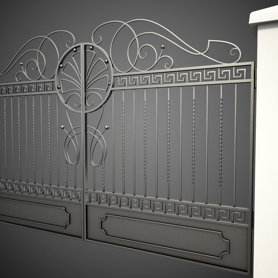 Wrought Iron Gate 6 royalty-free 3d model - Preview no. 2