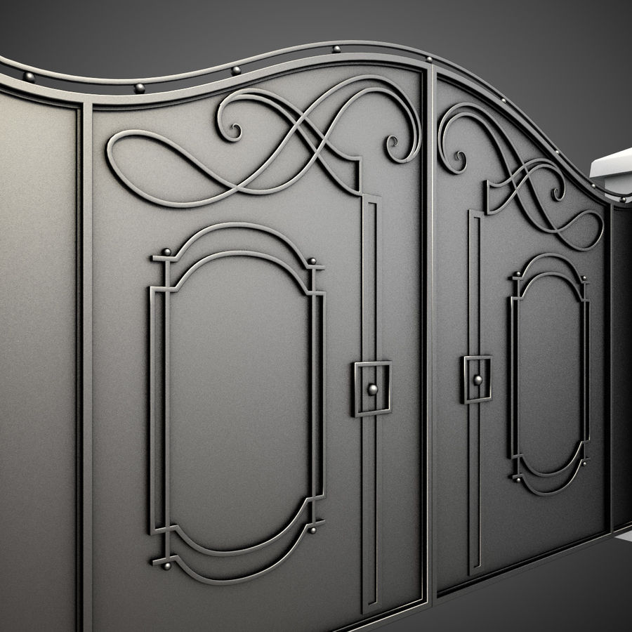 Wrought Iron Gate 7 royalty-free 3d model - Preview no. 1