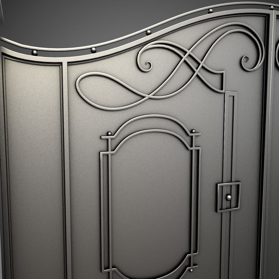 Wrought Iron Gate 7 royalty-free 3d model - Preview no. 2