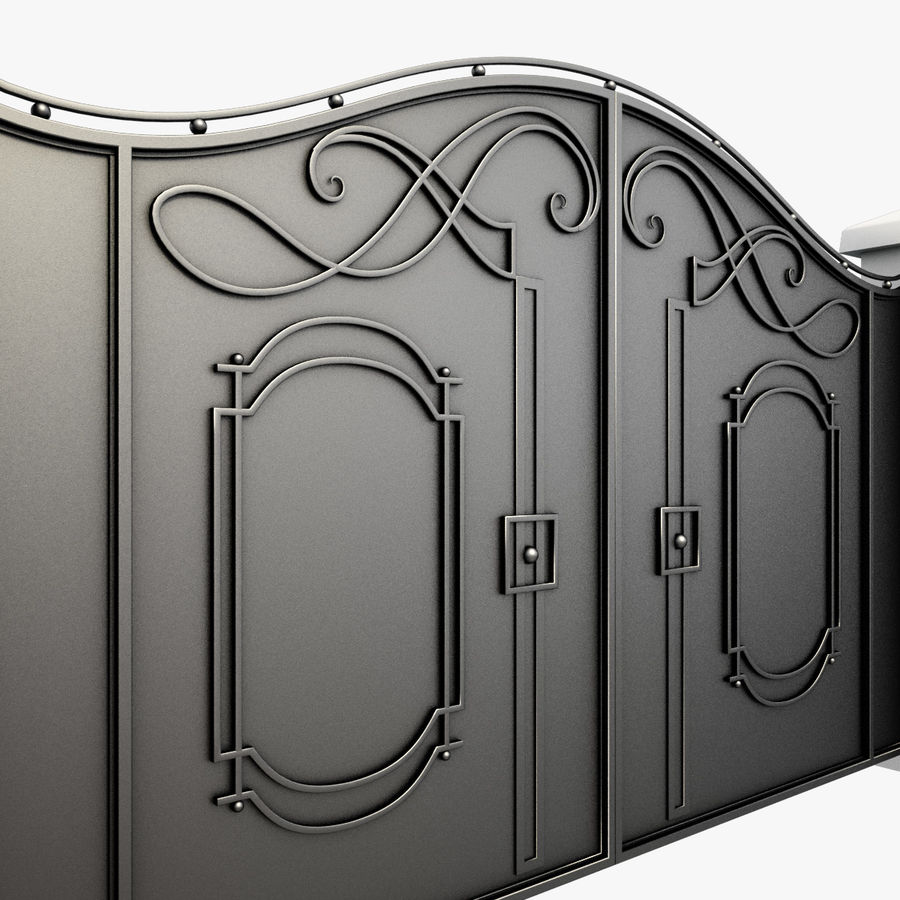 Wrought Iron Gate 7 royalty-free 3d model - Preview no. 9